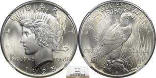 1925 Peace Dollar front and back