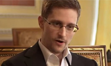 Edward Snowden in his interview with the German TV station ARD, which was broadcast on 26 January.
