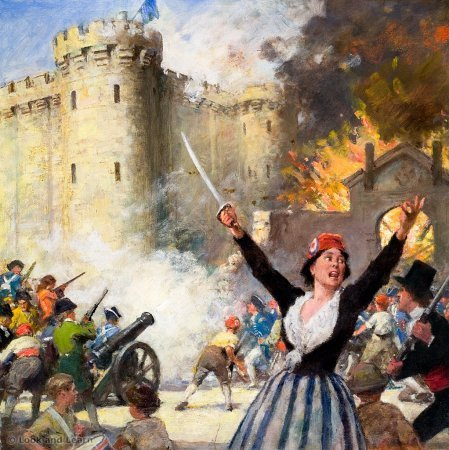French revolutionaries storm Bastille