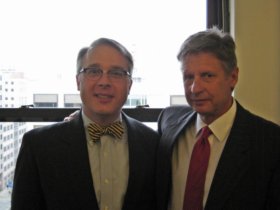 Mark Grannis, pictured with Governor Gary Johnson