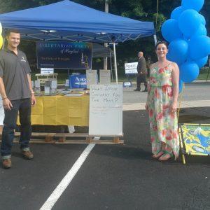 Eastern Shore Libertarians at Rising Sunfest